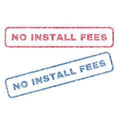 No install fees textile stamps vector