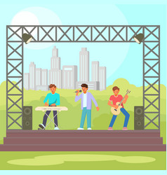 open-air concert flat vector image