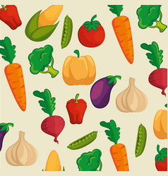 organic vegetables design vector image