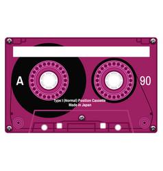 Plastic audio cassette tape vector