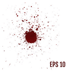 Realistic blood splatters splash liquid stain ink vector