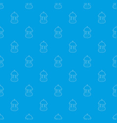 Rotunda pattern seamless blue vector