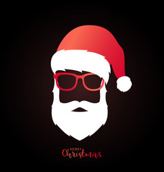 Santa claus with red hat and glasses vector