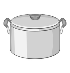 Saucepan icon cartoon style vector