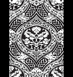Seamless floral antique pattern vector