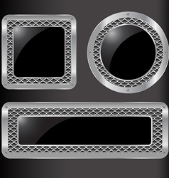 set abstract metal background vector image