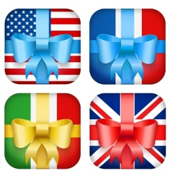 Set of Design national Gift Icon for Web and vector