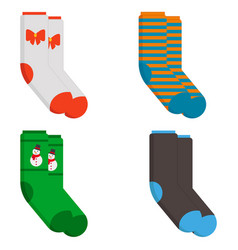 set of socks in a different pattern vector image