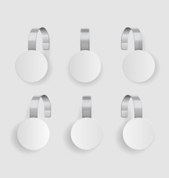 shape wobbler blank white wobbler hang on wall vector image