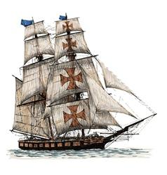 Ship 02 vector