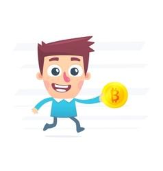 Shopping for Bitcoin vector