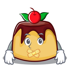 silent pudding character cartoon style vector image