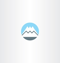 snow mountain icon sign symbol vector image