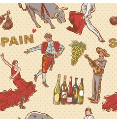 Spain seamless repeating pattern vector