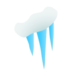 Spring icicles icon isometric 3d style vector image