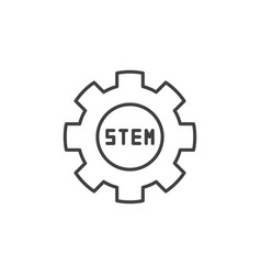 stem cog icon in thin line style vector image
