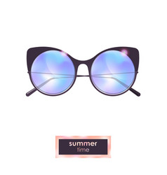 Summer cat eye sunglasses with blue gradient vector