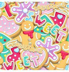 Sweet christmas cookies vector