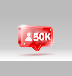 Thank you followers peoples 50k online social vector