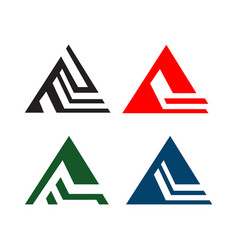 triangle logo design concept isolated on white vector image