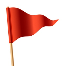 triangular flag vector image