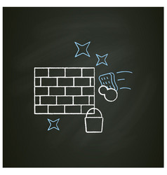 Wall cleaning chalk icon vector