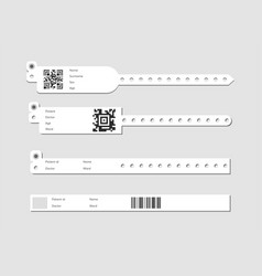 Wristband template set vector