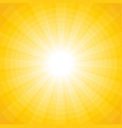 yellow background with a white sun with rays and vector image