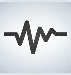 cardiac cycle flat icon sign heart beat vector image