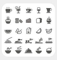 Food and Beverage icons set vector image vector image