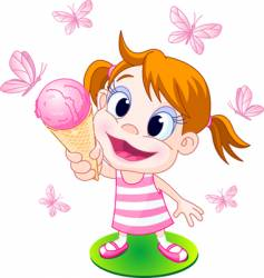 ice cream girl vector image vector image