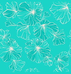 seamless pattern beige flowers in one paint on a vector image