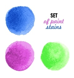 Set of colored banners with water-color stains vector