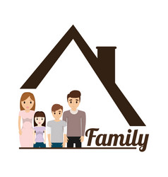 family house poster vector image