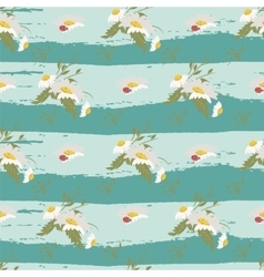 Floral chamomile retro vintage background vector image vector image