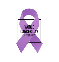 world cancer day awareness banner vector image vector image