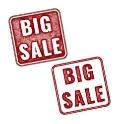 Big Sale grunge textured red rubber stamp vector image vector image