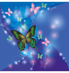 Bright glowing abstract background blue violet vector image vector image