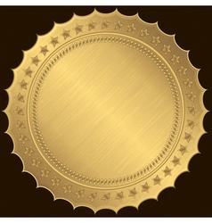 Golden blank label vector image