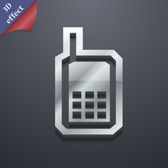 Mobile phone icon symbol 3D style Trendy modern vector image
