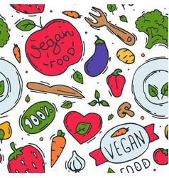 vegetarian food logo symbol vegan eco vector image vector image