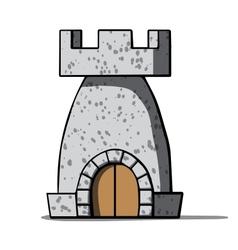 Cartoon medieval tower vector