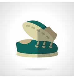 Flat color icons for footwear vector image
