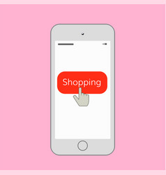mobile shopping vector image vector image