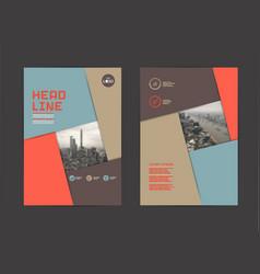 template design layout brochure design vector image vector image