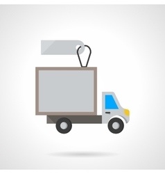 Van for rent flat color icon vector image vector image