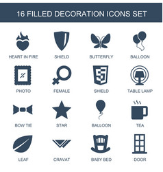 16 decoration icons vector