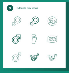 9 sex icons vector