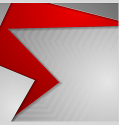 abstract red grey geometric corporate background vector image