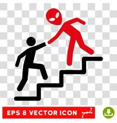 Alien Training Help Eps Icon vector